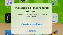 """新出现的iOS Bug阻止部分App打开 出现""""此应用不再与您共享""""提示"""