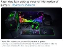 雷蛇意外泄露了超10万用户的个人信息
